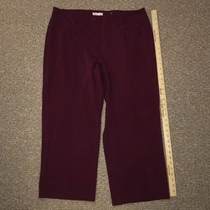 Cato Pants & Jumpsuits - Cato Maroon pull on pants 18/20W